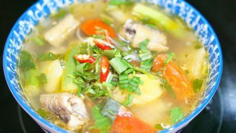 Canh lươn nấu bắp chuối review