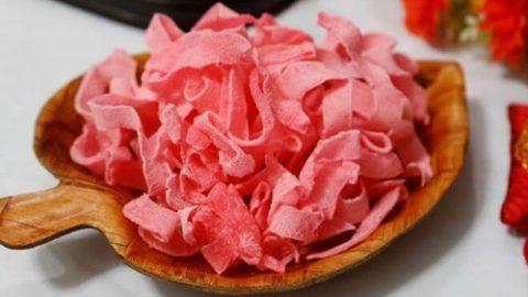 Mứt dừa màu hồng review
