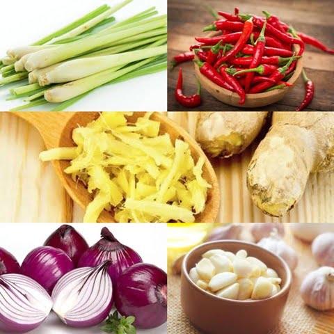 Sơ chế các loại rau củ gia vị