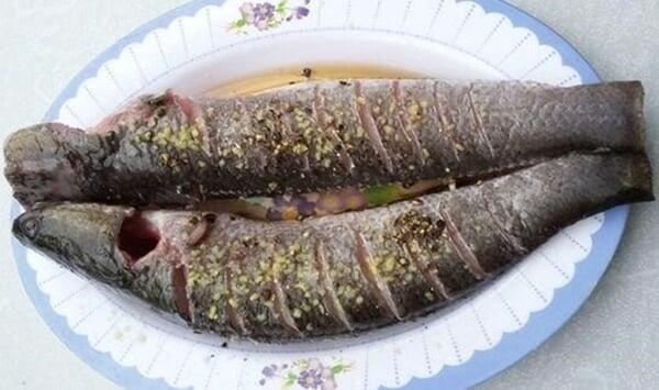 Sơ chế và ướp cá lóc