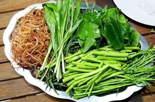 Sơ chế các loại rau nhúng ăn kèm